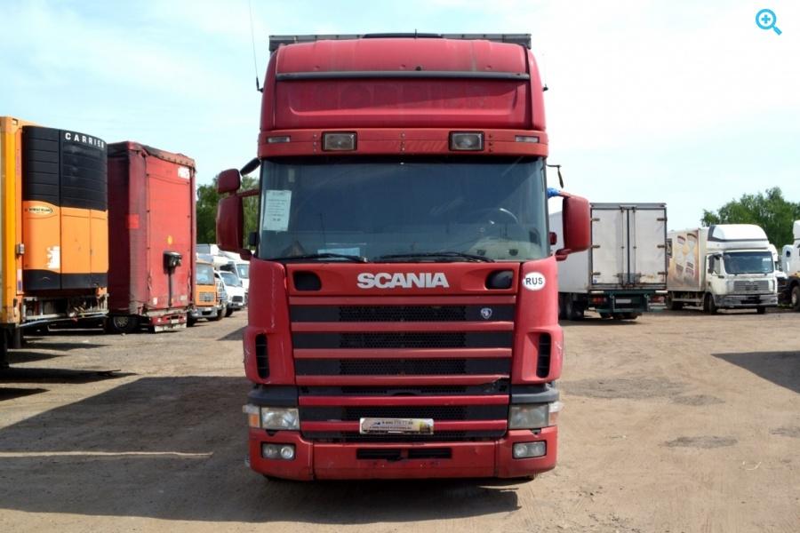 Шторный автопоезд Scania R124. Год выпуска 1998.