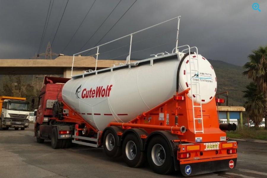Новый полуприцеп цементовоз GuteWolf