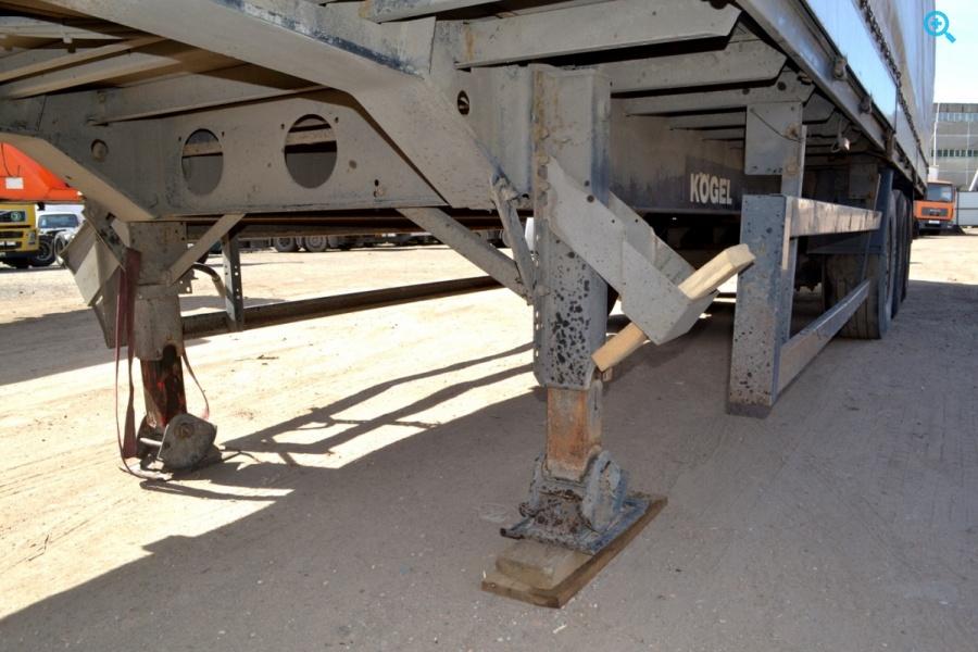 Полуприцеп бортовой П-образная штора (гардина) Kogel SN24. Год выпуска 2003