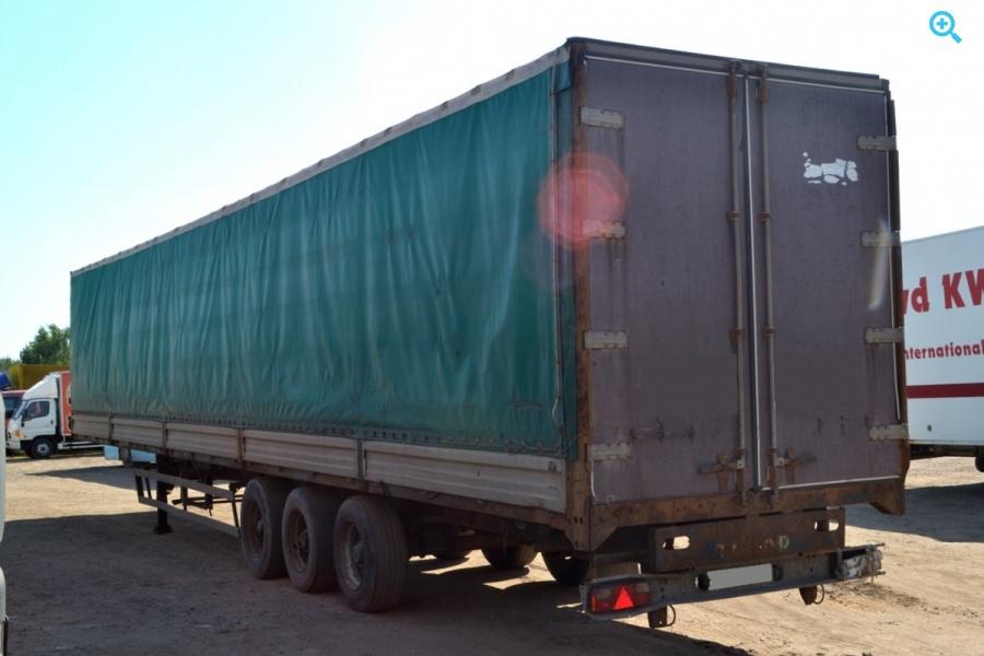 Полуприцеп бортовой тентованный (П-образная штора) Тонар – 974611. Год выпуска 2008