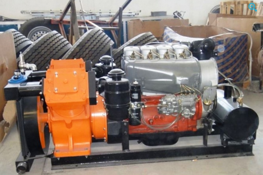 Компрессор двух поршневой Bekomsan Esinti 102 с дизельным двигателем