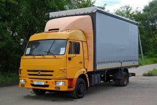 Грузовик шторно-бортовой КАМАЗ 4308