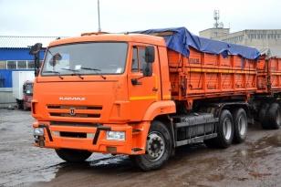 Грузовой самосвал КАМАЗ 45143-42 «сельхозник» с трёх сторонней разгрузкой