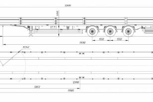 Бортовой полуприцеп JTB-36В, 2021 года