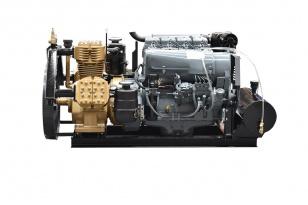 Компрессор GlobalTech Makina T160-3 c дизельным двигателем