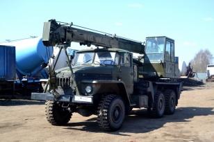Автокран Урал 432020 01 с сваебойным оборудованием
