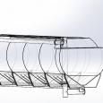 Полуприцеп кормовоз (комбикормовоз) алюминиевый со шнековой выгрузкой GuteWolf. Год выпуска 2018.