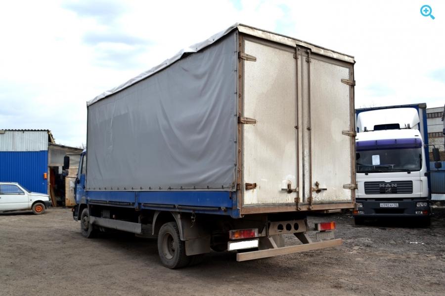 MAN 12.224 LE220C грузовик тентованный. Год выпуска : 2001.