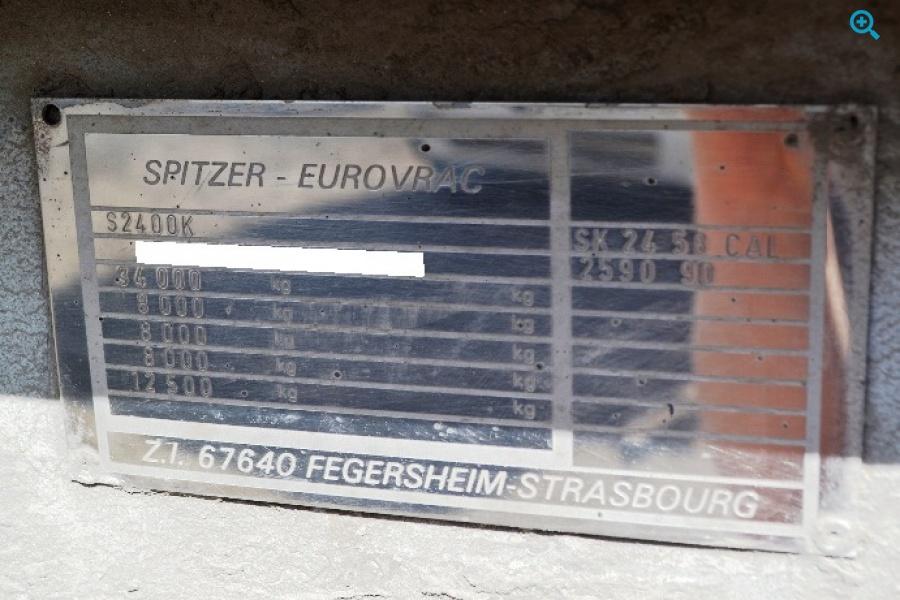 Полуприцеп цистерна SPITZER S2400K. Год выпуска 1990.