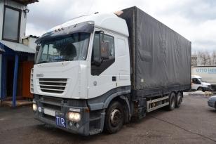 Купить Iveco Stralis 430 грузовик тентованный. Год 2003 года