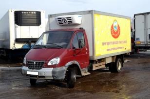 Грузовой фургон рефрижератор с гидробортом  Газ Валдай