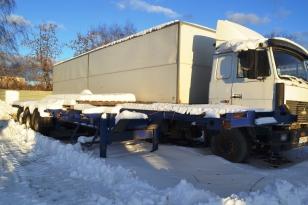 Полуприцеп контейнеровоз Sommer SW-240GRKR. Год выпуска 2008.