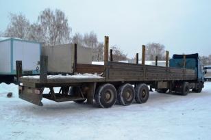 Полуприцеп бортовой МАЗ 933014. Год выпуска 2005.