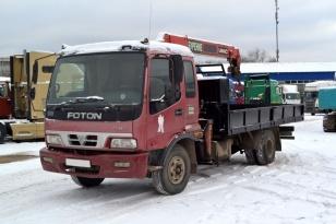 Бортовой  грузовик манипулятор  (Крано-манипуляторная установка «UNIK»серии UR v370 ) на базе FOTON AUMAN AF77A2BJ