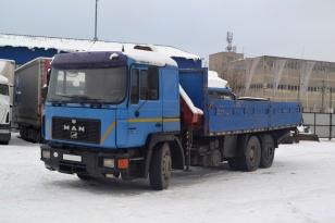 Бортовой  грузовик манипулятор MAN 25.422
