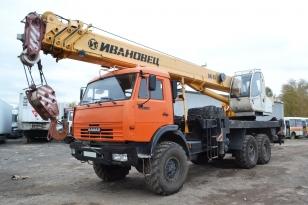 Автокран КамАЗ-43118 «ИВАНОВЕЦ» КС-45717К-3Р. Год выпуска 2013.
